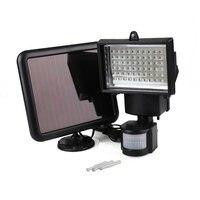 Outdoor Garden 60 LEDs Sensor Waterproof Floodlight Spotlight Solar Bulb Light