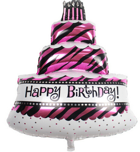 Large Zebra Pink Black Sweet 16th Adults 30th 40th 50th