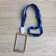 2016 New aluminium alloy employee worker ID Card Holder with Lanyard