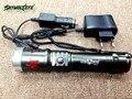 1800lm XML Q5 из светодиодов аккумуляторная 18650 фонарик 3 режим Lanterna увеличить фокус вспышка света AC + автомобильное зарядное устройство