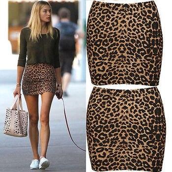Γυναικεία κοντή φούστα Leopard 334c7b36e1c