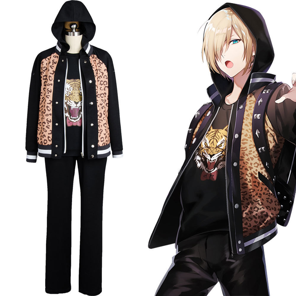 New Anime Yuri On Ice Yuuri Plisetsky Daily Suit Tiger Head Shirt Jacket Japanese Team Uniform Cosplay Costume For Halloween