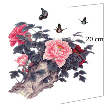 Free Shipping Airbrush Body Paint New Arrival Fashion The Peony Flower Female Waterproof big Tattoo Stickers MQA26