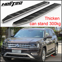 HOT side step side bar pedals running board for Volkswagen Teramont 2016 2018+,old seller,reliable quality,can stand 5 persons