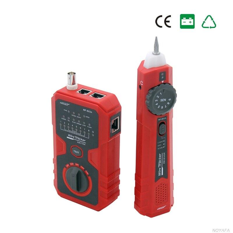 NOYAFA Free shipping NF-803A simple operation cable tester tone generator for RJ45 RJ11 BNC тестер noyafa nf 704