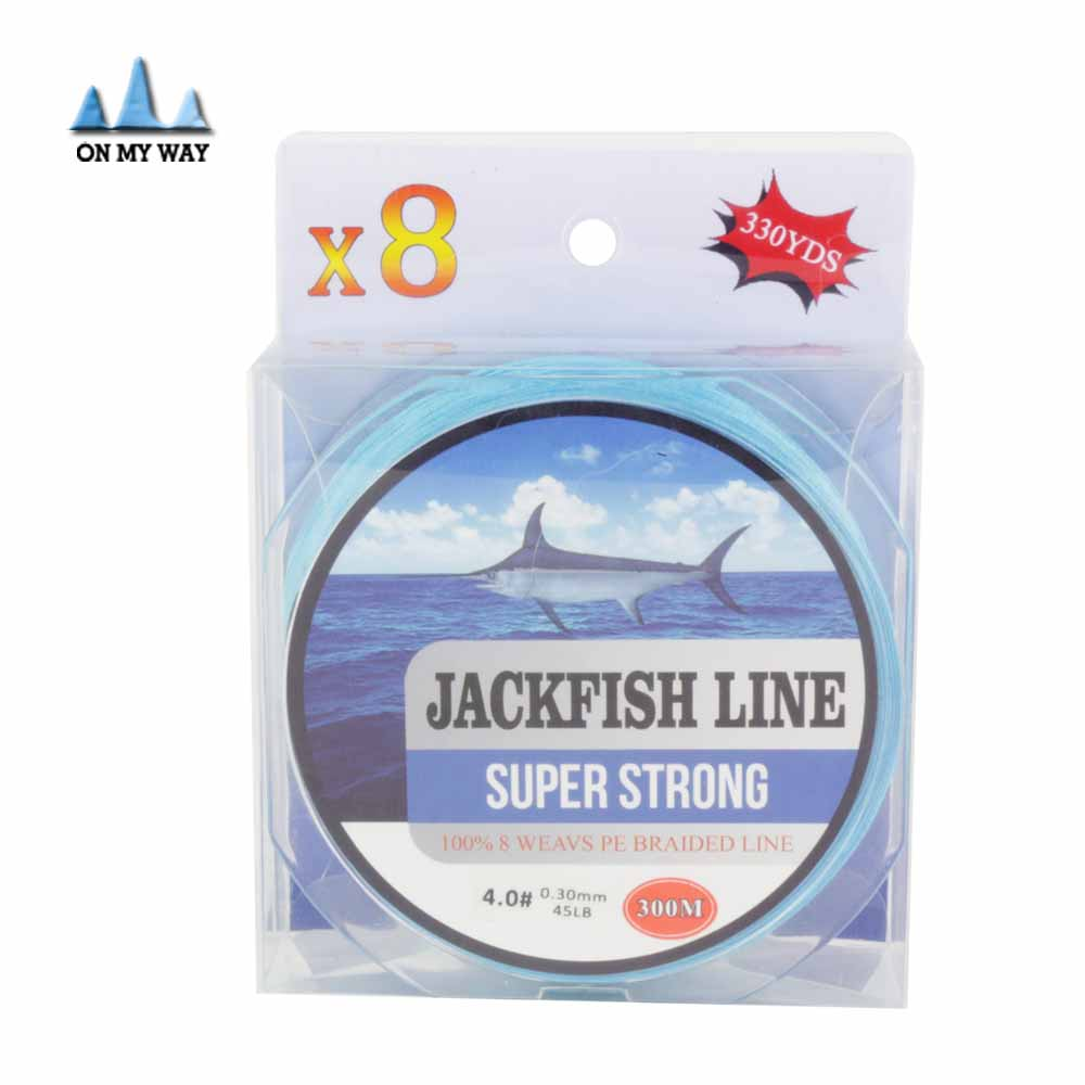 With gift super strong 8 strand 300m 330yds 10 80lb brand for Fishing line brands