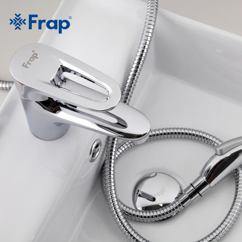 Frap High Quality Bathroom Faucet Black Solid Brass Bathroom Solid Basin Faucet Cold and Hot Water