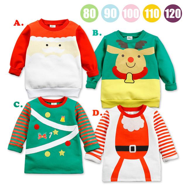Ano novo crianças bobo choses 2-7 t qualidade crianças topos de algodão papai noel sudaderas camisa dos miúdos t roupas infantis menino 2017