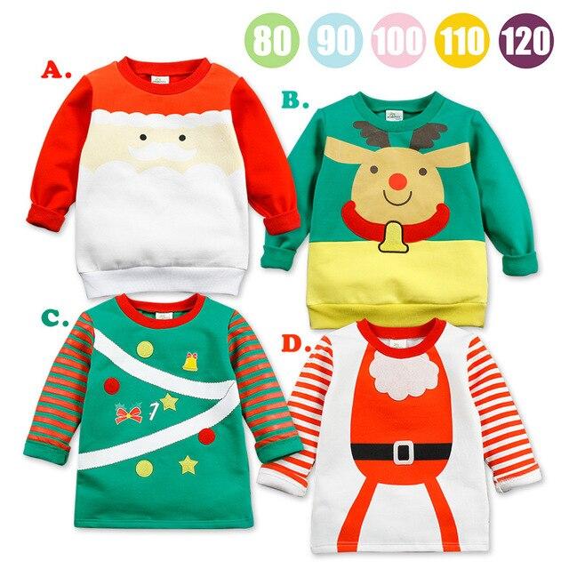 New Year Children Bobo Choses 2-7T Quality Children Cotton Tops Santa Claus Sudaderas Kids  T Shirt Roupas Infantis Menino 2017