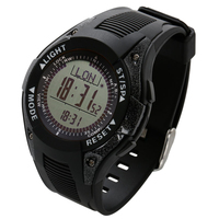 SunRoad Barometer Weather Forecast Men Fishing Athletics Altimeter Thermometer Digital Watch LCD Screen Compass Watch Yellow