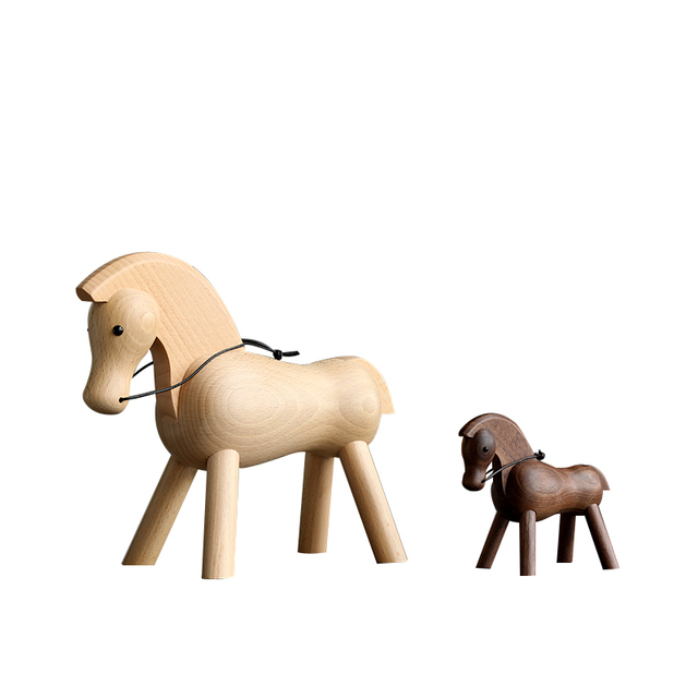 home decoration accessories walnut wood horse decoracao para casa decor decoracion hogar moderno  maison vintage decor figurine 6