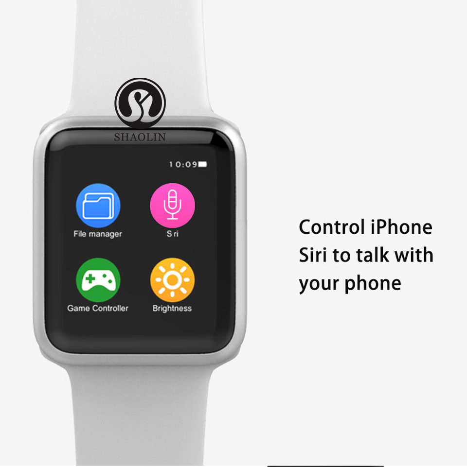 SHAOLIN Bluetooth Smart Watch Heart Rate Monitor Smartwatch Wearable Devices for iPhone IOS and Android Smartphones apple watch-8