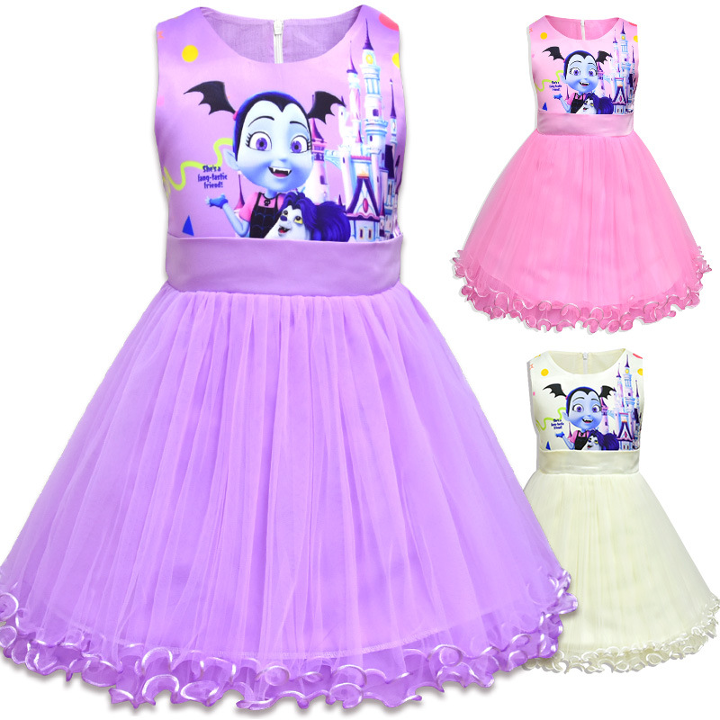 62cbf109d2c8 Cute Kids Unicorn Tulle Dress for Girls Embroidery Ball Gown Baby Flower  Girl Princess Dresses Wedding Party Costumes vampirina