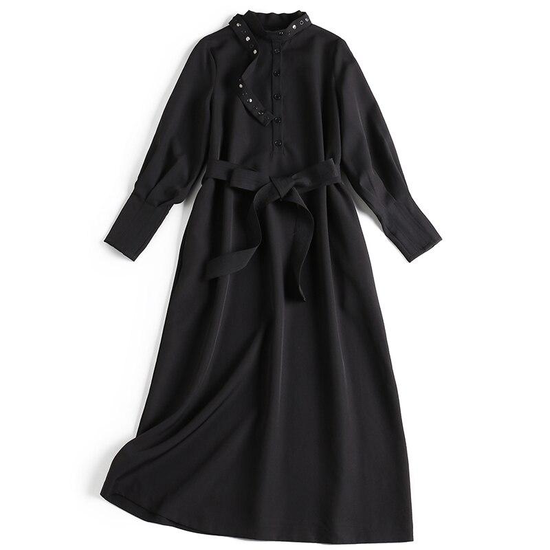 Vendaje Negro Cintura Elegante Breasted De Sólido 2019 Vestido K186 Dama Las Negro Alta Único rojo Mujeres Primavera Camisa Casual 8P6WAvOwBq