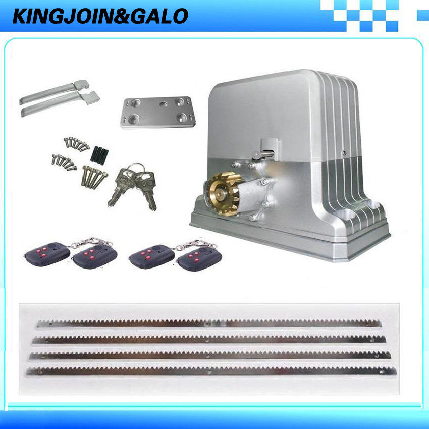 Full kits electronic rolling sliding gate motors driving Max1800kg For Industial and Commercial with Remote Control and 4M Racks electronic sliding gate motors driving 1800kgs gate weight with factory price