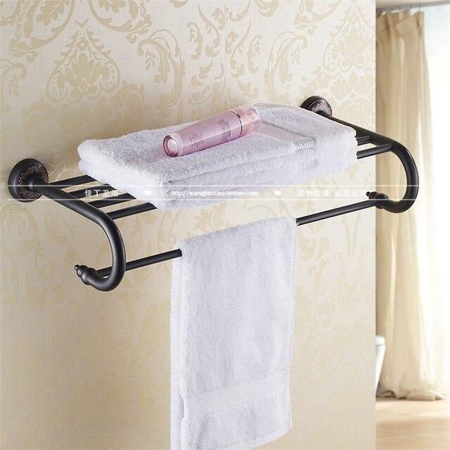 koperen vintage zwarte badhanddoek rek van de badkamer handdoekrek ...