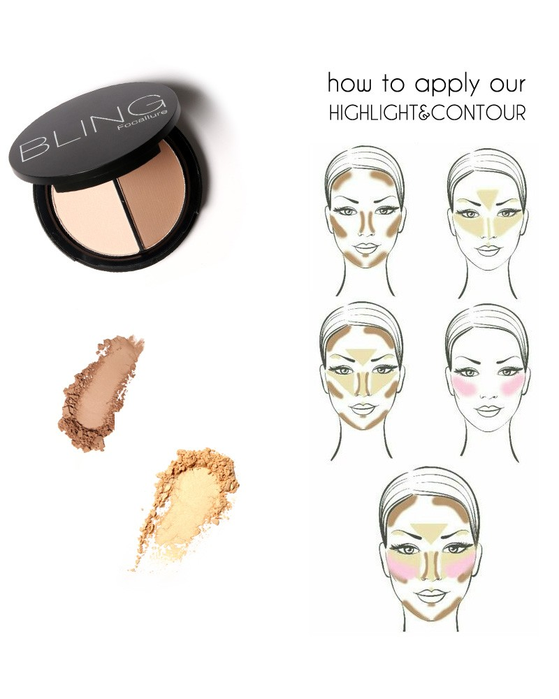 Focallure Bling Shimmer Bronzers And Highlighters Powder Makeup How To Apply