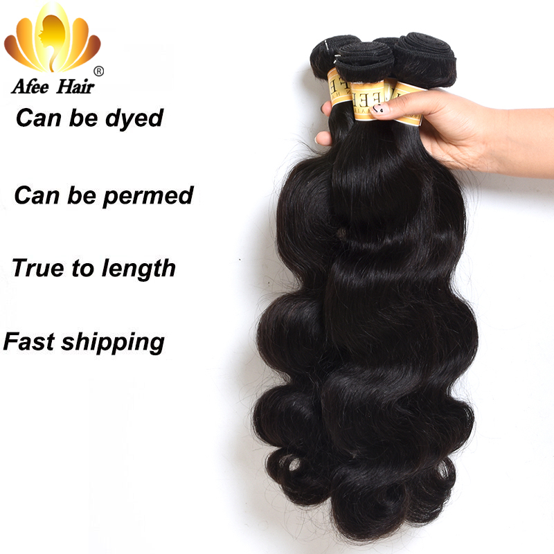 Image 2 - AliAfee Hair Chinese Hair Bundles With Closure Natural Color Body Wave Hair Weave Human Hair Bundles With 4*4 Closur Non Remy-in 3/4 Bundles with Closure from Hair Extensions & Wigs