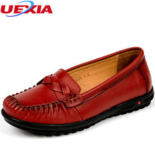 New Leather Women Shoes Mother Moccasins Loafers Soft Leisure Flats Female Breathable Driving Casual Peas Shoes Work Footwear