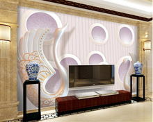 beibehang Custom high fashion waterproof wall paper 3D circle swan mural background papel de parede 3d wallpaper