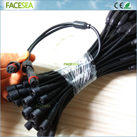50pcs 4 Pin Waterproof Led Connector 1 Male To 2 Female Splitter Cable 40cm For LED