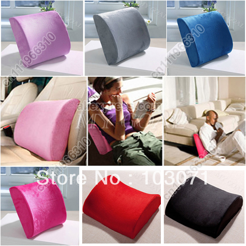Newest High Resilience Memory Foam Lumbar Back Support Cushion