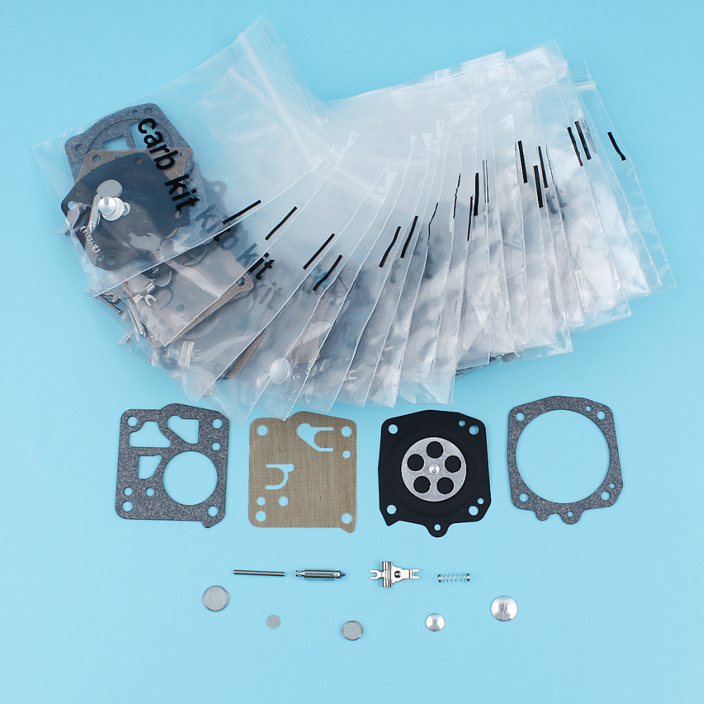 20Pcs/lot Carburetor Diaphragm Repair Kit For Husqvarna 61 66 266 268 272 281 Jonsered 625 630 670 Chainsaw Tillotson RK-23HS