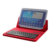 2015 Newest 9 10 Inch Tablet Universal PU Leather Case Cover Removable Plastic Wireless Bluetooth Keyboard