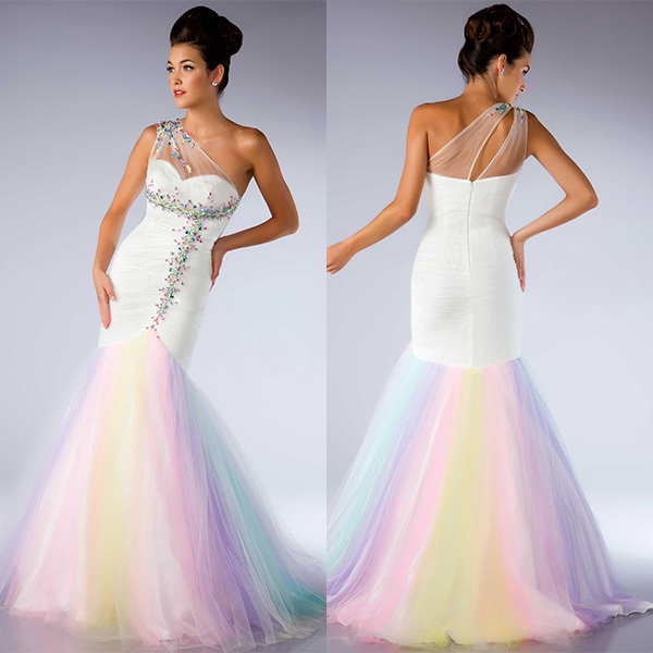 Compare Prices on Rainbow Mermaid Prom Dresses- Online Shopping ...
