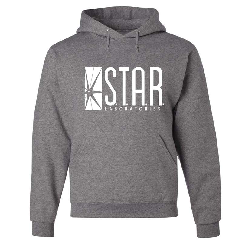 Men Sweat Star Trek Hip Hop Black Gray Hoodies And Sweatshirts Hoody Street Wear Size XXL