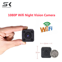 Wifi IP Mini Camera Wireless 1080P HD Infrared Micro IR Night Vision Body Camera Magnetic Motion
