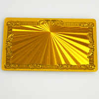 100pcs Gold Metallic plastic business cards Shading A