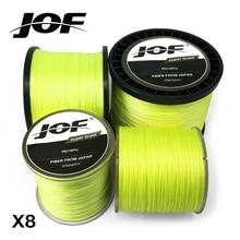 JOF Braided Fishing Line 8 Strands Yellow 300M 500M 1000M Saltwater Fishing Cord linha multifilamento 8 fio