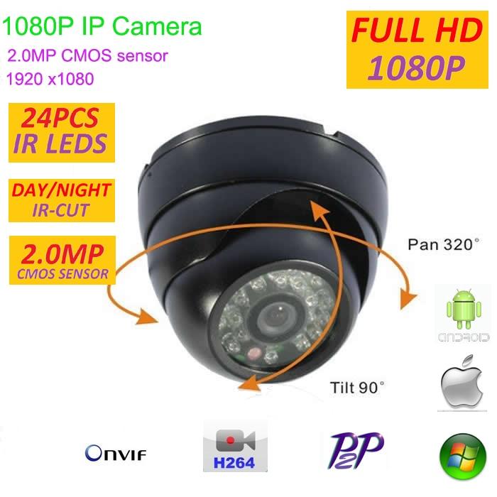 bilder für 2.0MP mini 1080 P Ip-kamera CCTV Full HD 1920*1080 Indoor Security network Kamera mit P2P, ONVIF, H.264, IRCut Filter, plug and play