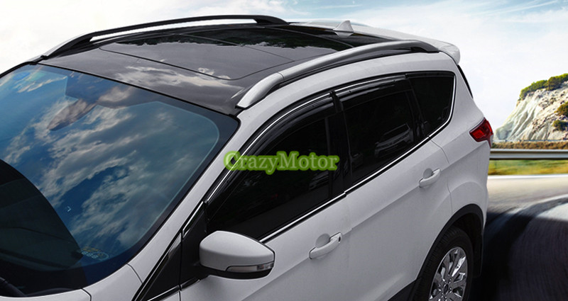 Silver Color  Roof Rails Rack Luggage Carrier Bars For Ford Escape/kuga 2013 2014 2015 2016 2017 black color top roof rails rack luggage carrier bars for mitsubishi asx outlander sport 2013 2014 2015 2016