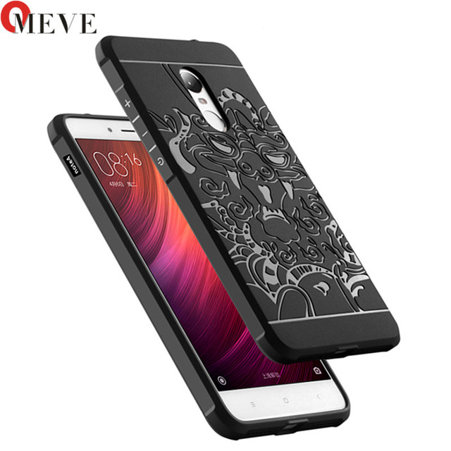 For Xiaomi Redmi Note 4 Case Blade Silicon Soft TPU 3D Curved Dragon Rugged Tough Cover Cases For Xiaomi Redmi Note 4