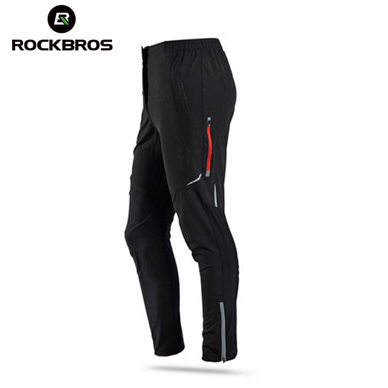 ROCKBROS Winter Fleece Cycling Pants Men Women Thermal Bike Trousers Summer Cycling Sportswear Sport Suits Bicycle Wears H6403 rax 2015 thermal fleece hiking pants for men women winter outdoor sports warm fleece trousers fleece camping pants 54 4f089