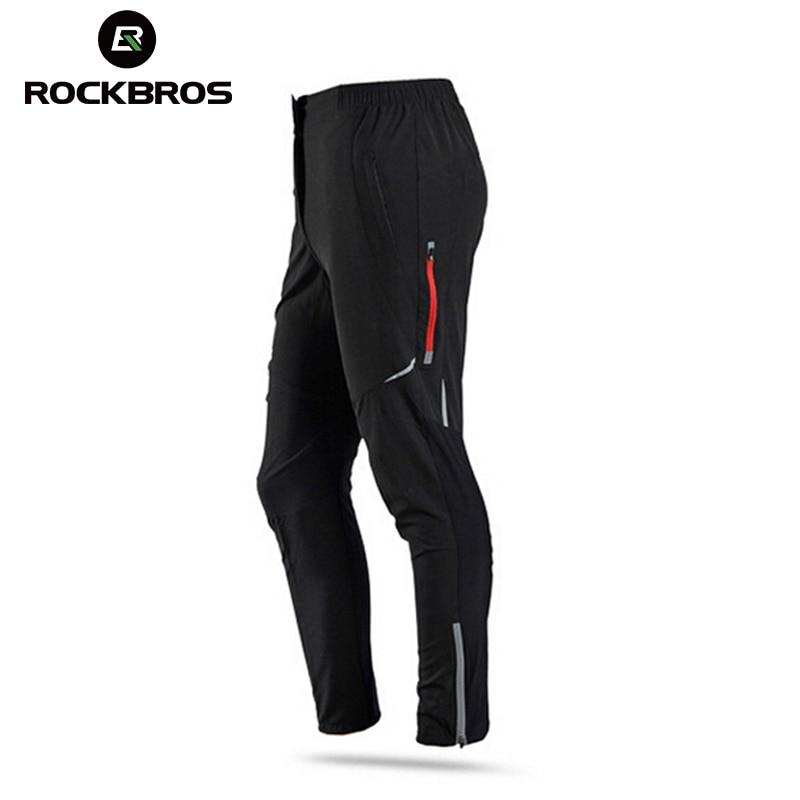 ROCKBROS Winter Fleece Cycling Pants Men Women Thermal Bike Trousers Summer Cycling Sportswear Sport Suits Bicycle