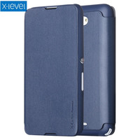 X LEVEL For Sony Xperia E4 Case Flip PU Leather Protective Cover Stand For Sony Xperia