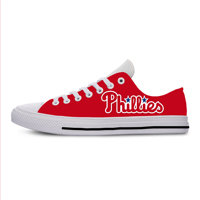 2019 New Arrival Professional Baseball Teams Breathable Casual Shoes Philadelphia Phillies Women&men Lightweight Shoes