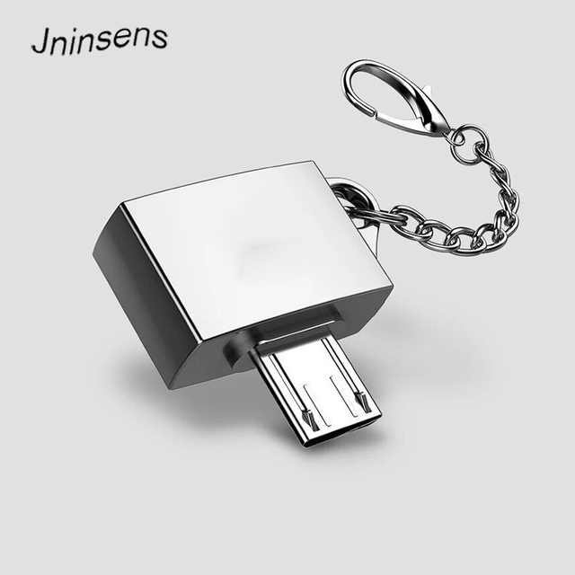 Mini Metal Micro USB To USB 2.0 OTG Adapter Converter with Key Chain for OTG Smart Phone Wholesale