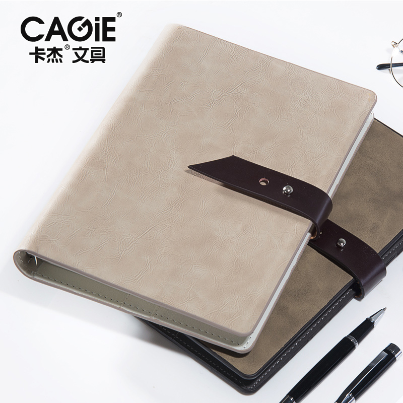 effdd2aa530a1 Cagie 2018 Vintage Spiral Notebook Business Travel Faux Leather Planner  Organizer Office Supplies Filofax A5 Customizable -in Notebooks from Office    School ...