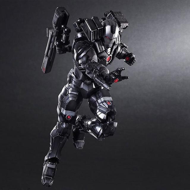 Máquina de Guerra de Triatlo de Super-heróis Vingadores da marvel Homem De Ferro Preto BJD Brinquedos Action Figure Modelo Preto Legal Homem De Ferro figura de ação