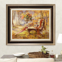 DIY Frameless Scenery Pictures Paint By Numbers Digital Oil Painting On Canvas Handwork Gift Set Of