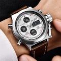 Norden Herren Uhren Top-marke Luxus Quarz Militär Uhren Männer Leder Sport LED Digital Elektronische Uhr Relogio Masculino