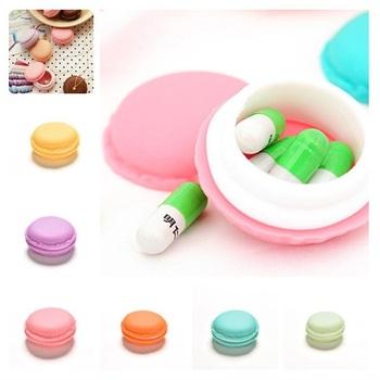 Śliczne cukierki futerał na pigułki apteczka 6 kolorów okrągłe plastikowe opakowanie na leki leki przechowywanie organizator pojemnik na futerał na pigułki cukierki kolor tanie i dobre opinie JETTING Przypadki i rozgałęźniki pigułka Plastic pill case Pill Cases Splitters piece 0 013kg (0 03lb ) 1cm x 1cm x 1cm (0 39in x 0 39in x 0 39in)