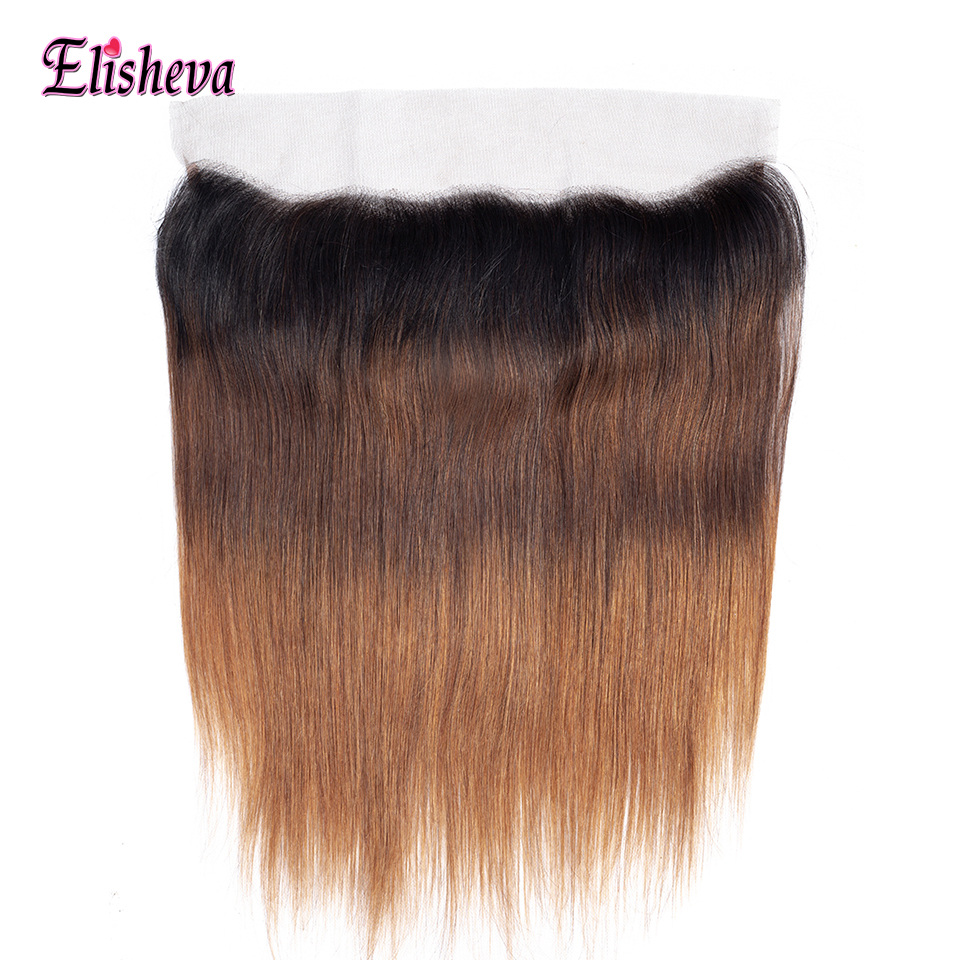 Elisheva Ombre 13x4 Ear To Ear Lace Frontal Closure Brazilian Straight Ombre Human Hair Lace Frontal