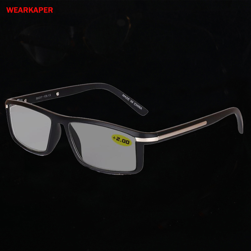 WEARKAPER Transition Photochromic Reading Glasses Men Women Presbyopia Eyeglasses Sunglasses Discoloration With Diopters 1.0-4.0