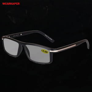 Image 1 - WEARKAPER Transition Photochromic Reading Glasses Men Women Presbyopia Eyeglasses sunglasses discoloration with diopters 1.0 4.0