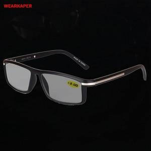 Image 1 - WEARKAPER Übergang Photochrome Lesebrille Männer Frauen Presbyopie Brillen sonnenbrille verfärbung mit dioptrien 1,0 4,0